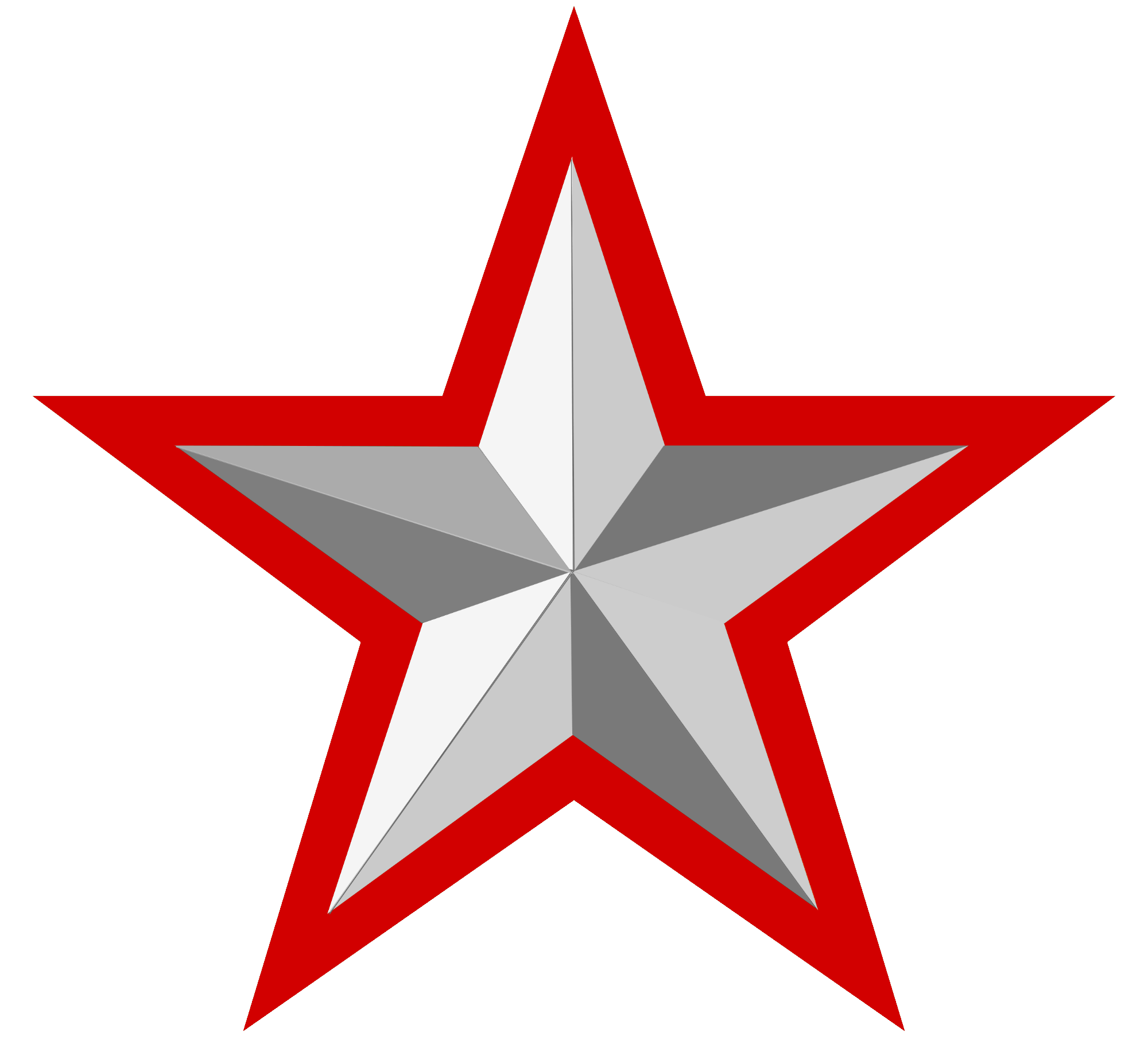 Clipart silver star graphic free library File Silver Star With Red Border Wikimedia Commons 25 graphic free library
