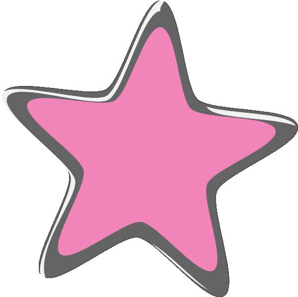 Clipart silver star png transparent download Pink Silver Star Clip Art at Clker.com - vector clip art online ... png transparent download