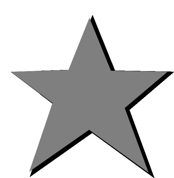 Clipart silver star jpg royalty free Silver Star Clip Art at Clker.com - vector clip art online, royalty ... jpg royalty free