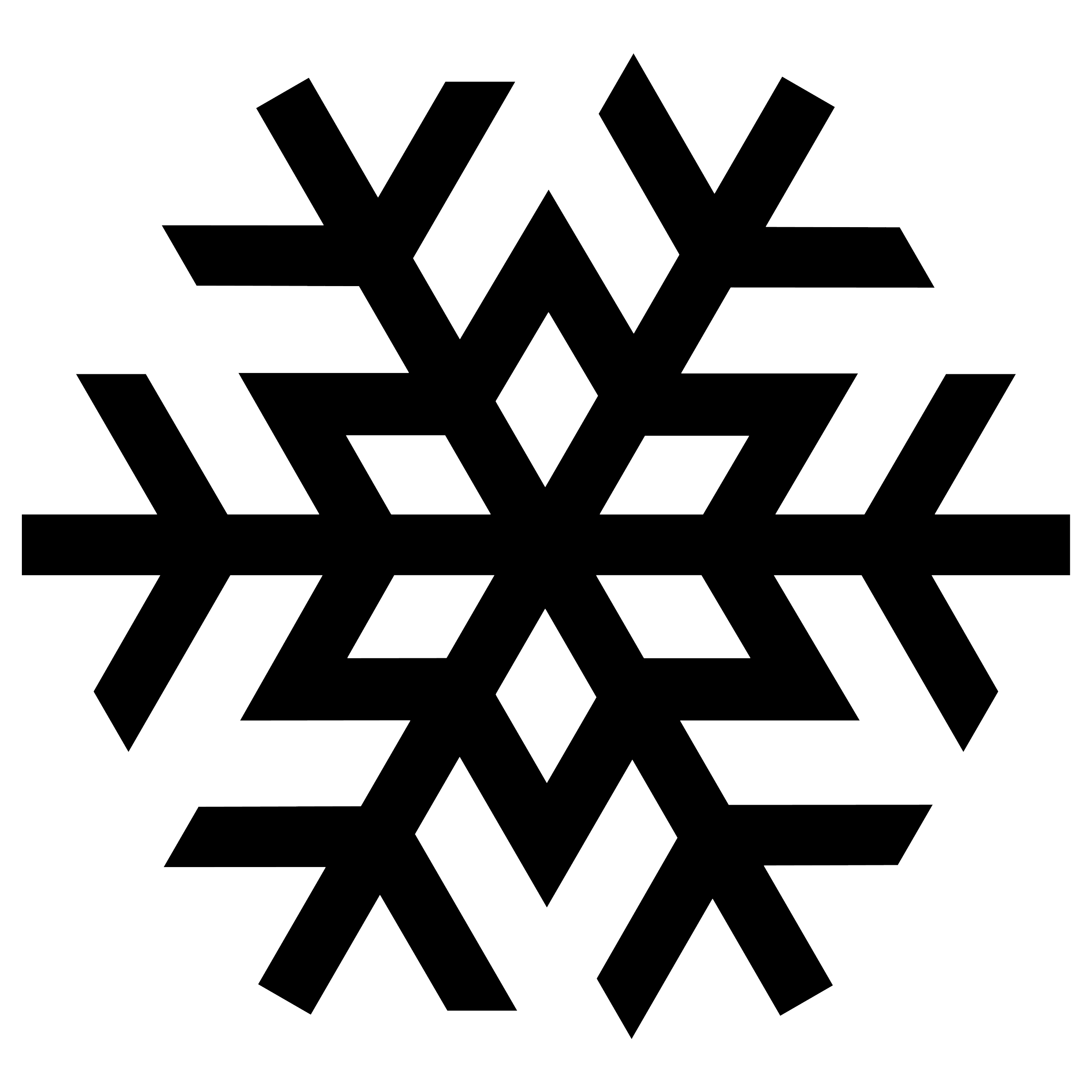 Free white snowflake clipart no background banner black and white 28+ Collection of Chunky Snowflake Clipart | High quality, free ... banner black and white