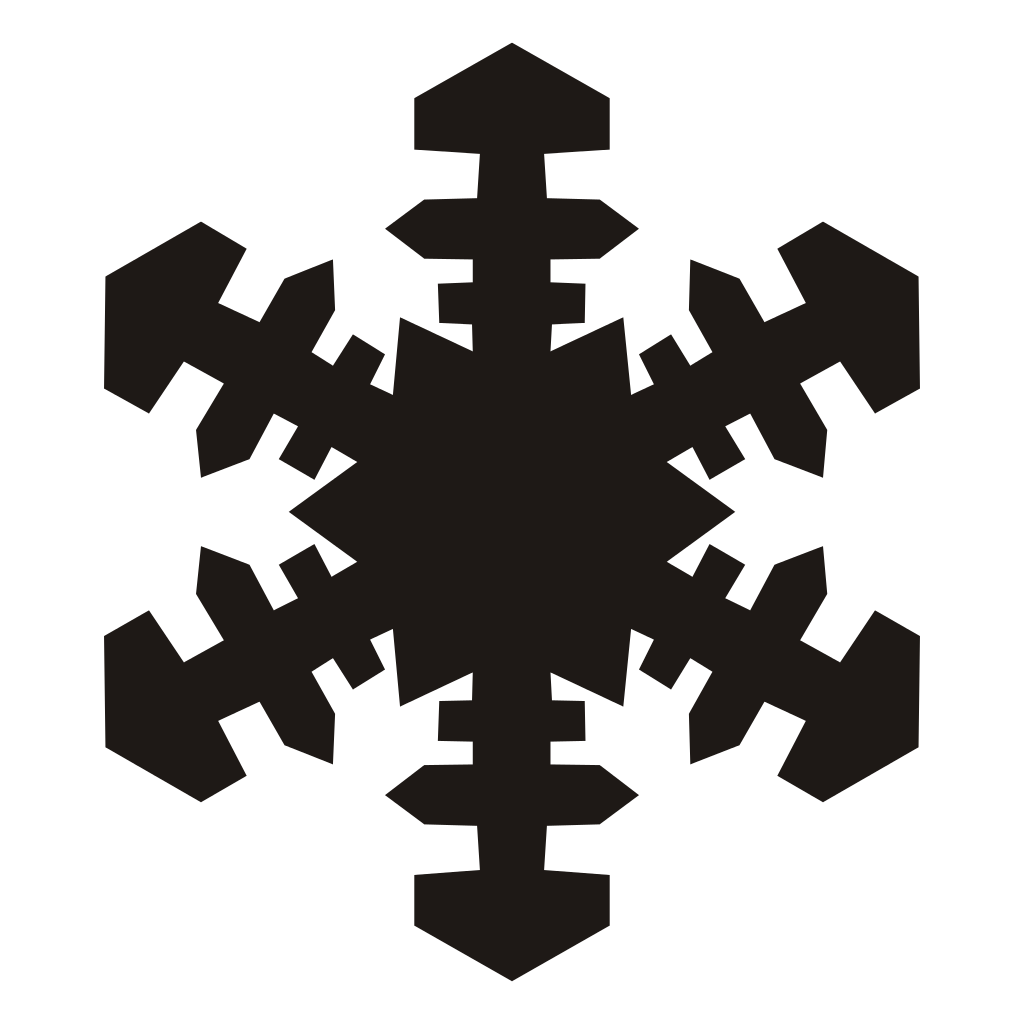 Clipart simple snowflake jpg black and white Collection of Purple Snowflake Cliparts | Buy any image and use it ... jpg black and white