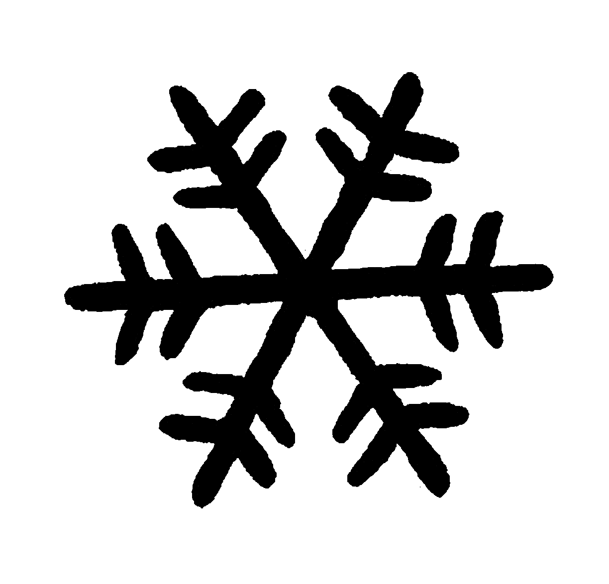 Clipart simple snowflake clipart black and white download Snowflake clipart silhouette #718820 - free Snowflake clipart ... clipart black and white download