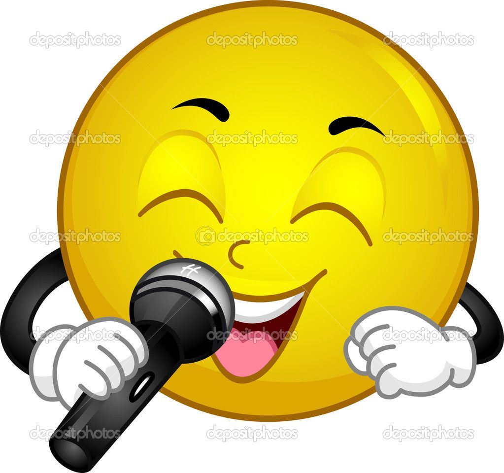 Clipart singing faces
