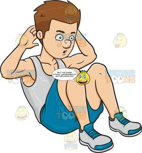 Sit ups clipart clip free download A Man Doing Sit Ups clip free download