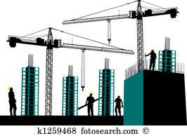 Clipart site en construction image black and white stock Construction site Clipart and Stock Illustrations. 7,973 ... image black and white stock