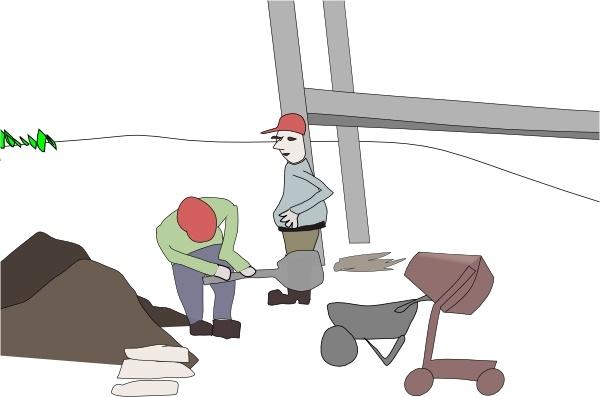 Clipart site en construction svg free download Addon Construction Site clip art Free vector in Open office ... svg free download