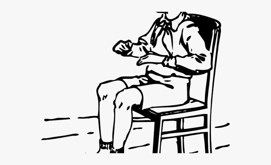 Clipart sitting in chair black & white vector black and white download Chair Clipart Seating - Sit Clipart Black And White #869406 - Free ... vector black and white download