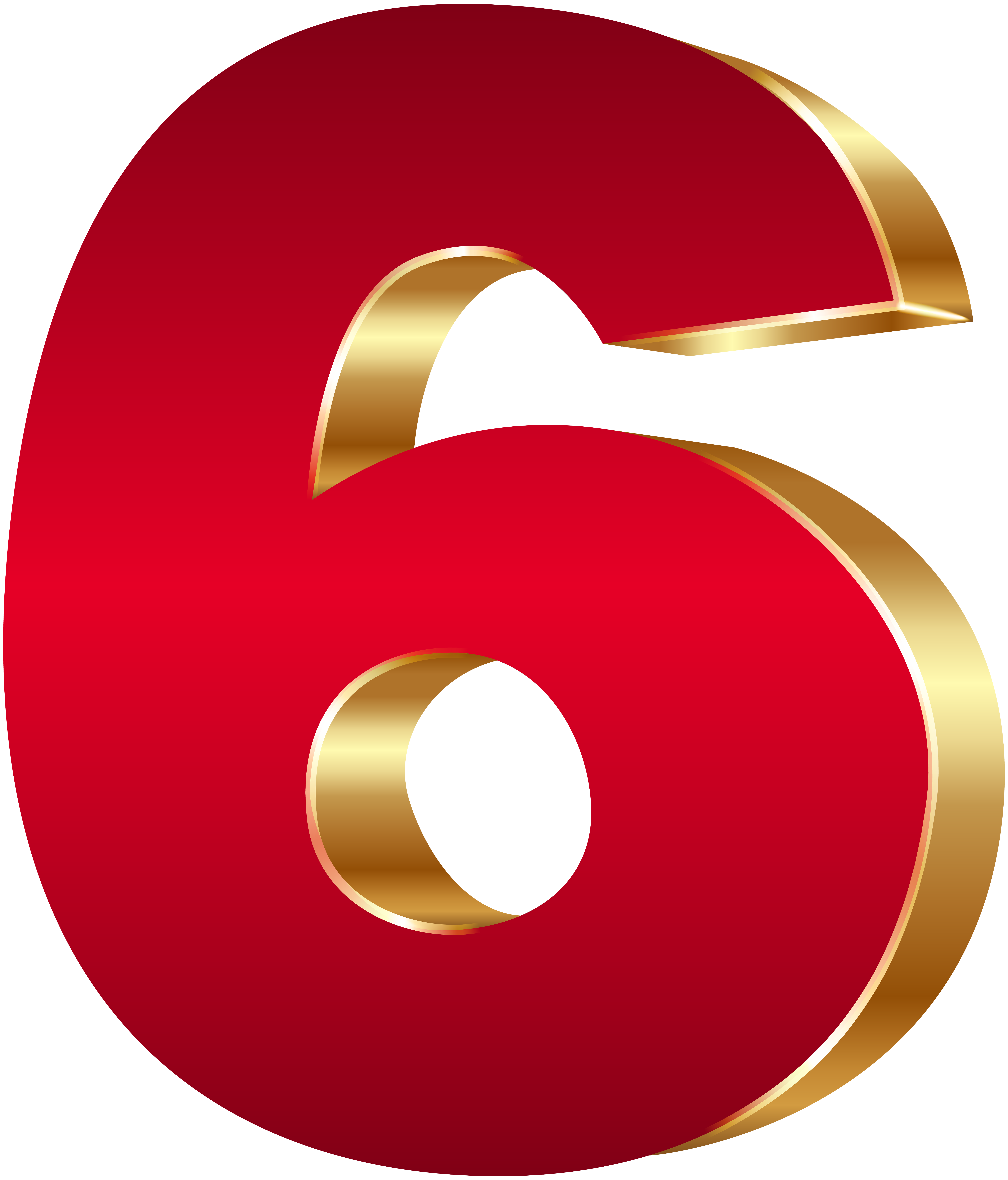 Clipart six free stock 3D Number Six Red Gold PNG Clip Art Image | Gallery Yopriceville ... free stock