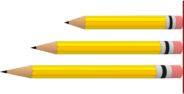 Dimensions kid pencils in. Clipart size