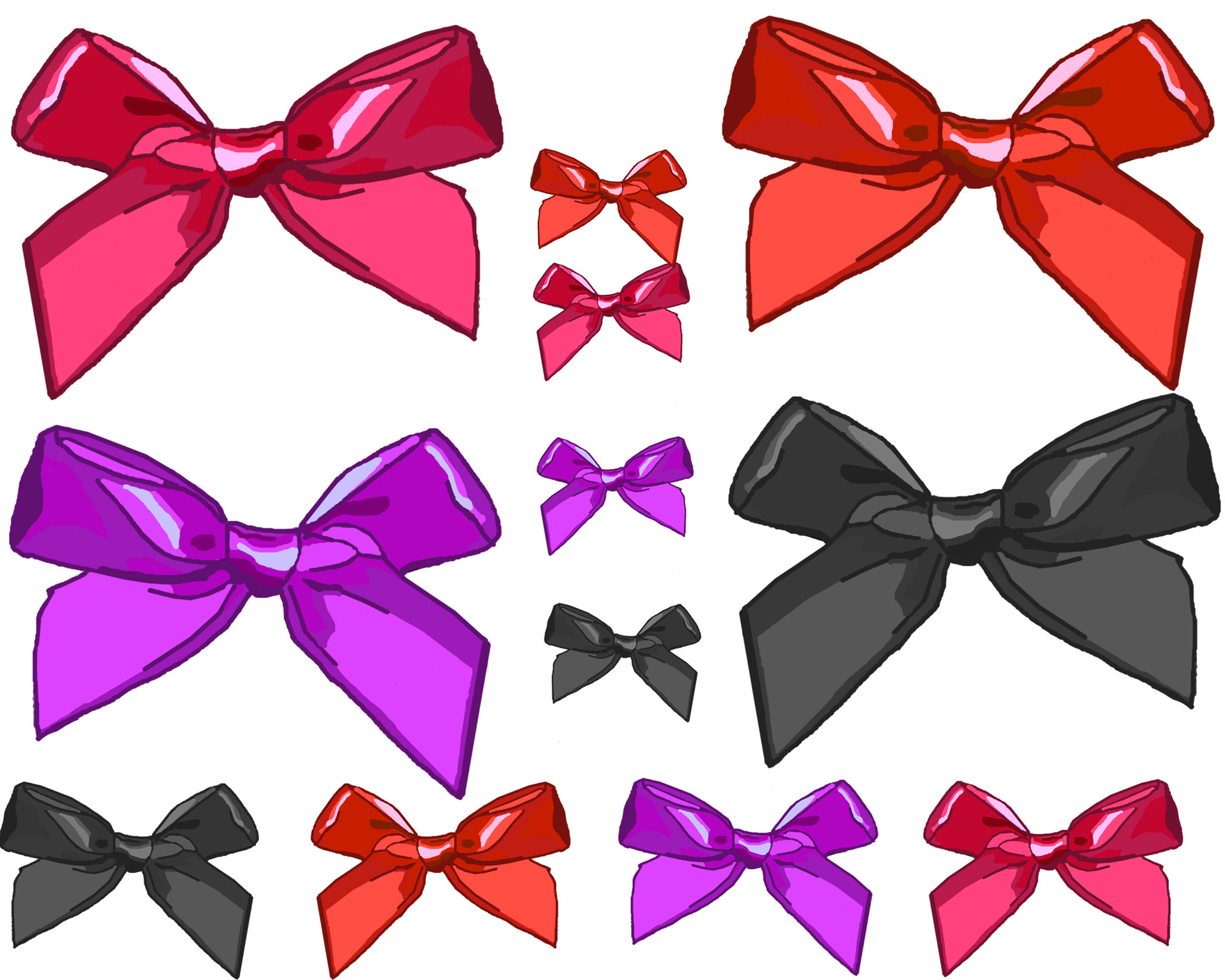 Clipart size banner library stock Various Size Clip Art Bows Free Stock Photo - Public Domain Pictures banner library stock