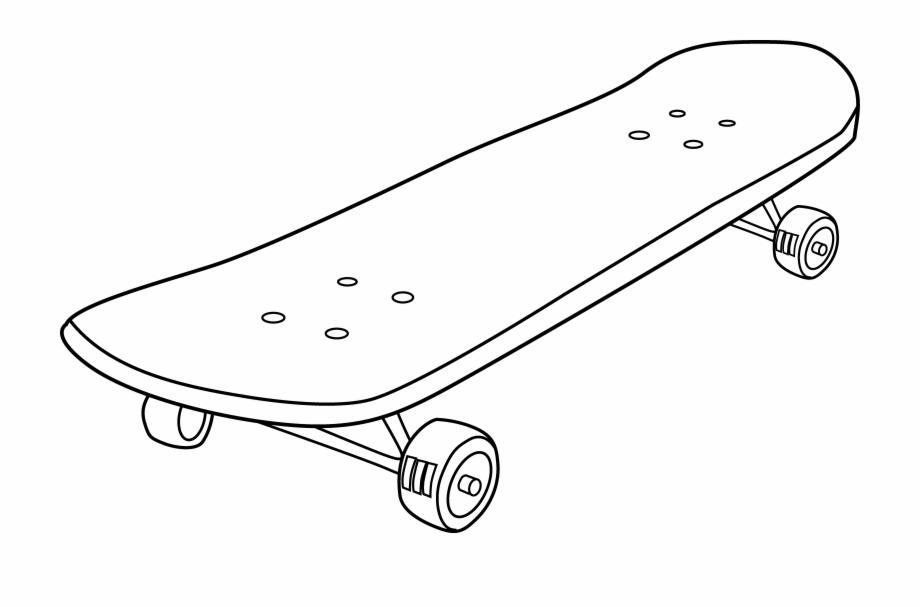 Skateboard clipart images jpg transparent download Skateboard Clipart - White Skateboard Black Background Free PNG ... jpg transparent download