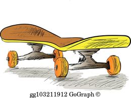 Skateboard clipart images jpg library download Skateboard Clip Art - Royalty Free - GoGraph jpg library download