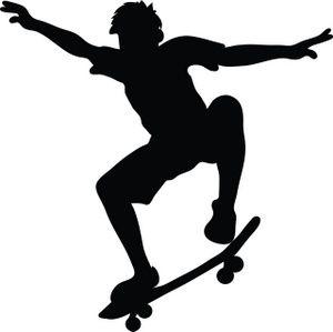 Clipart skateboardsing