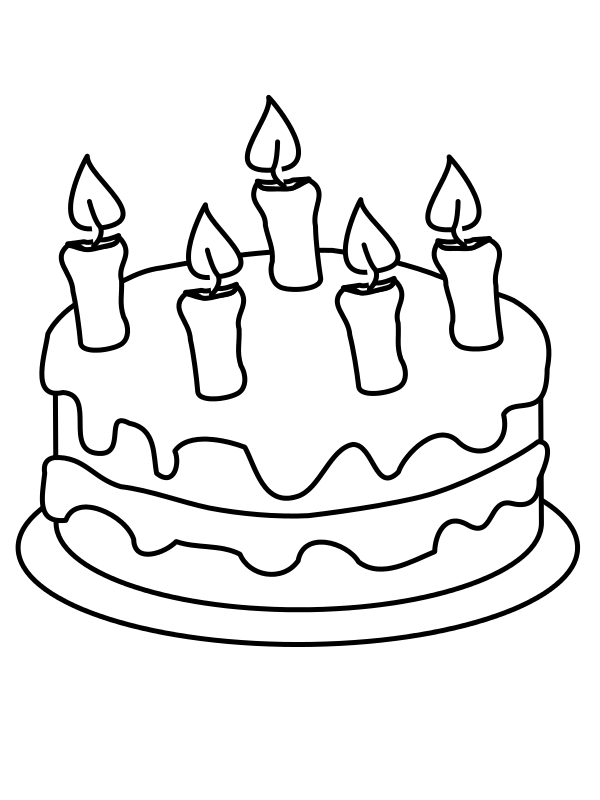 Open book black and white clipart picture black and white Wikijunior:Maze and Drawing Book/Birthday cake - Wikibooks, open ... picture black and white