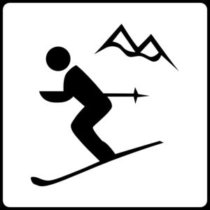 Clipart skifahren svg freeuse download Hotel Icon Near Ski Area Clip Art at Clker.com - vector clip art ... svg freeuse download