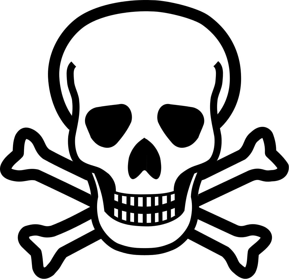 Clipart skull and cross bones png black and white File:Skull & crossbones.svg - Wikimedia Commons png black and white