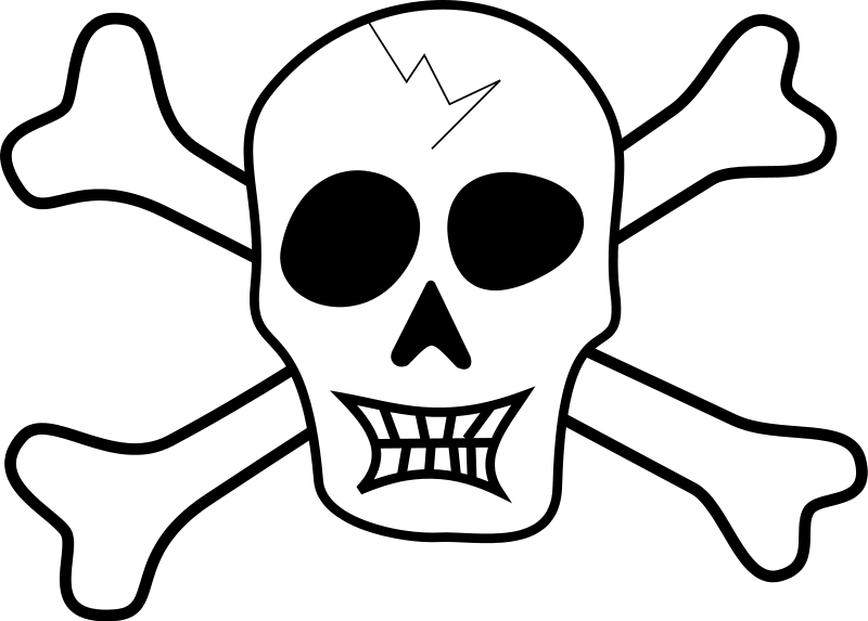 Skull and cross bones clipart image library library Skull And Crossbones | Free Stock Photo | Illustration of a skull ... image library library