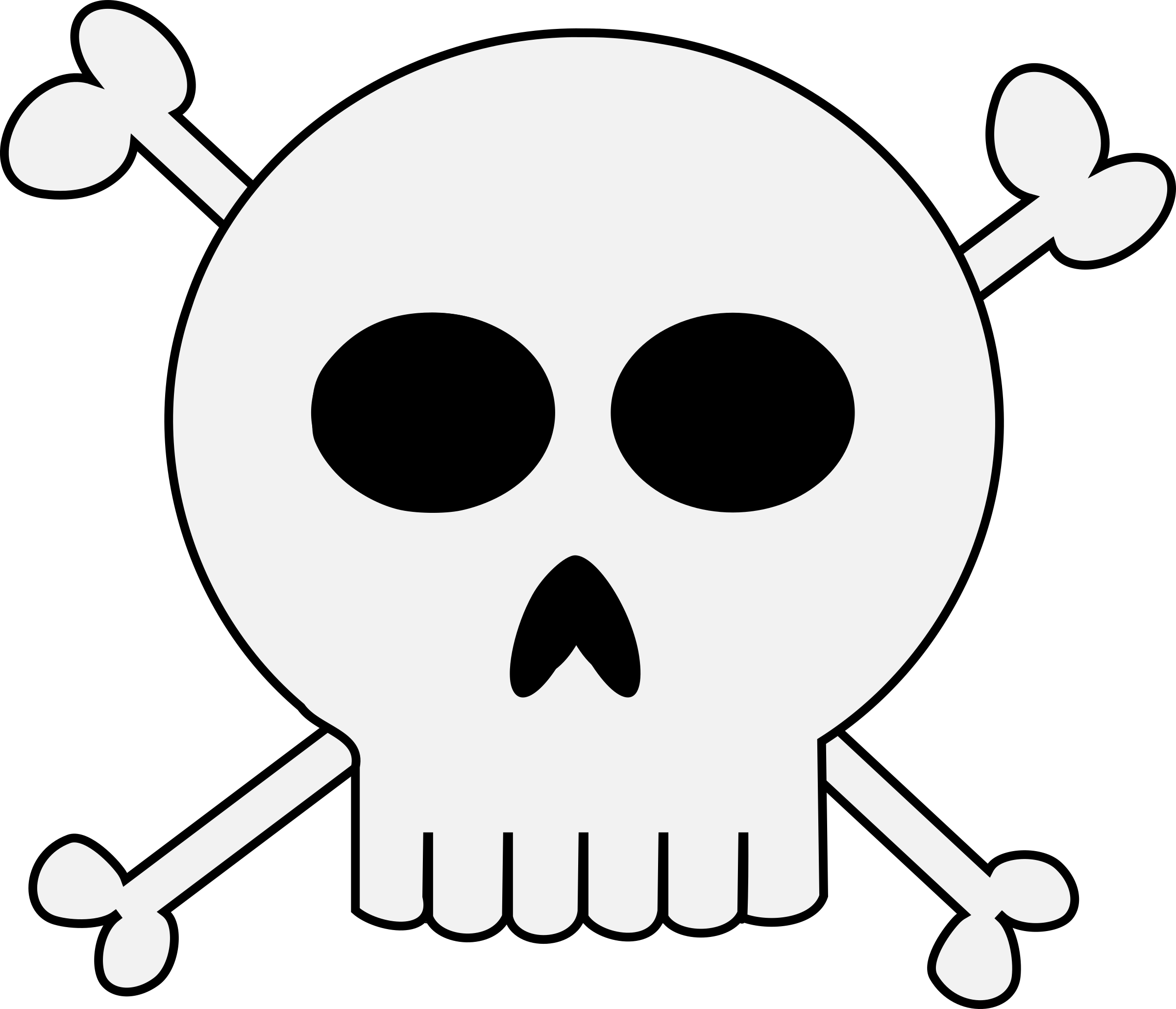 Skull and cross bones clipart vector royalty free Clipart - Punk Skull Crossbones vector royalty free