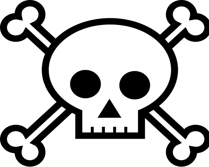 Clipart skull and cross bones clip art free stock Skull and Crossbone Clipart clip art free stock