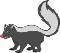 Clipart skunk banner black and white stock Free Skunk Clipart - Clip Art Pictures - Graphics - Illustrations banner black and white stock