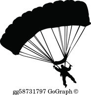 Skydiving images clipart graphic black and white library Skydiving Clip Art - Royalty Free - GoGraph graphic black and white library