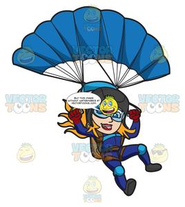 Skydiving images clipart picture royalty free library A Female Skydiver Landing With Her Parachute picture royalty free library
