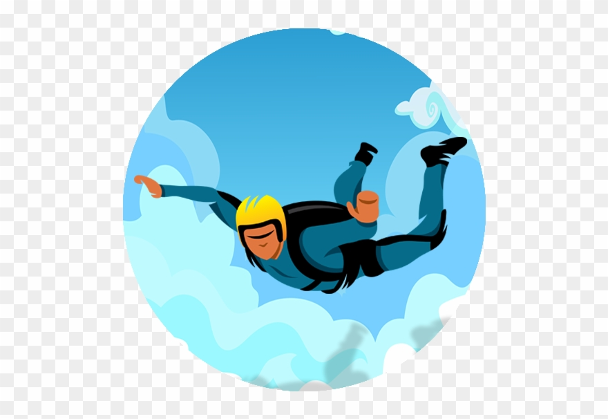 Skydiving images clipart svg transparent library Sky Diving - Skydiving Clipart Png Transparent Png (#506663 ... svg transparent library