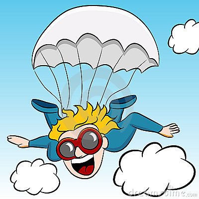 Skydiving cartoon clipart graphic download Free clipart skydiving graphic download