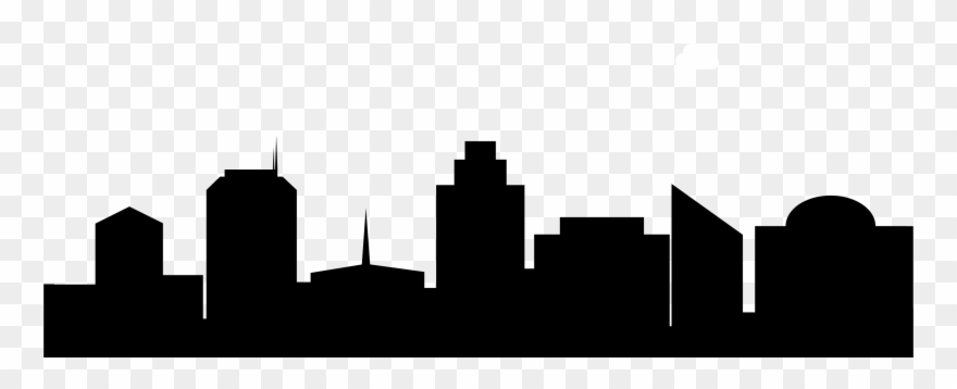 Clipart skyline image black and white Skyline Clipart City Horizon - Real Estate - Png Download (#739899 ... image black and white