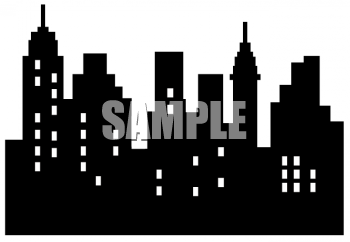 Free city skyline clipart banner royalty free library City Skyline Template | City Skyline - Royalty Free Clipart Image ... banner royalty free library
