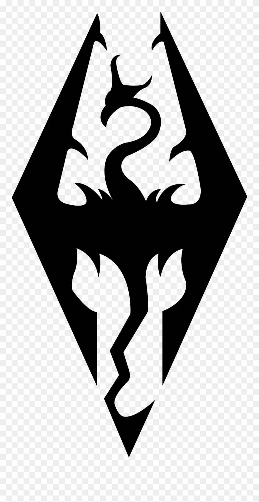 Clipart skyrim vector library Pin By Carmen Casini On Plotter - Skyrim Logo Silhouette Clipart ... vector library