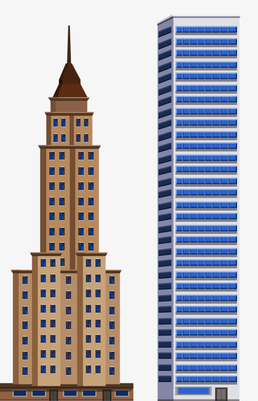 Clipart skyscrapers image transparent Skyscrapers Building High Rise House PNG Image And Clipart For ... image transparent
