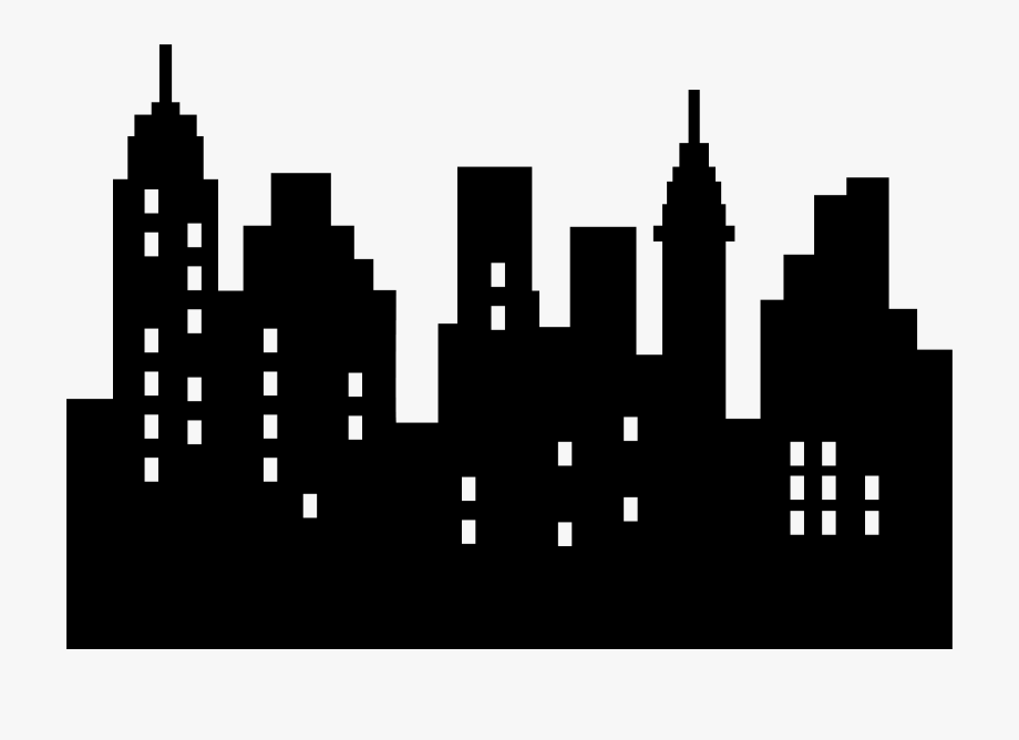 Clipart skyscrapers jpg City Clipart Skyscraper - Simple City Skyline Silhouette #320666 ... jpg