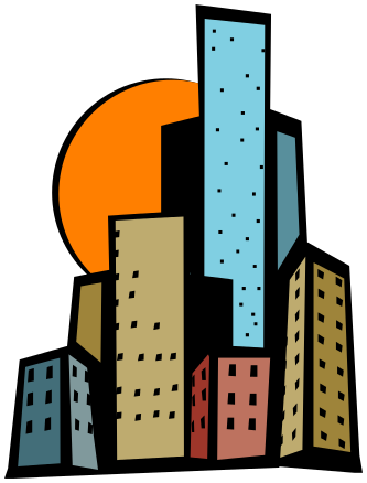 Clipart skyscrapers image library stock skyscraper bright clipart - /buildings/city/skyscrapers ... image library stock