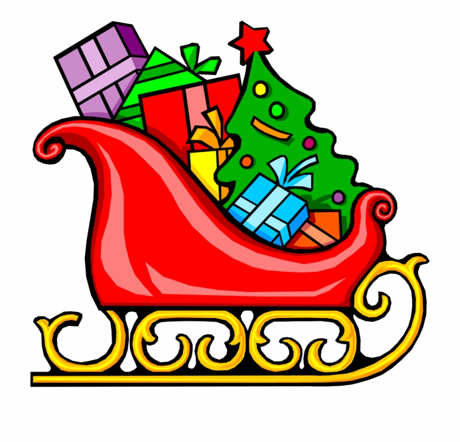 Clipart sleigh graphic royalty free library Santa\\\'s Sled - Sleigh Clipart, Transparent Png Download For Free ... graphic royalty free library