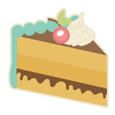 Clipart slice of cake image freeuse library Cute slice of cake clipart - ClipartFest image freeuse library