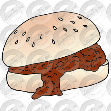Clipart sloppy banner free download Sloppy Joe Picture for Classroom / Therapy Use - Great Sloppy Joe ... banner free download