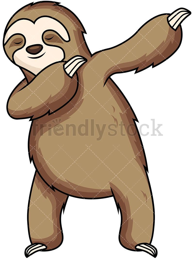Clipart sloths royalty free download Dabbing vector and craft. Sloth clipart cartoon | - Quotes and etc ... royalty free download