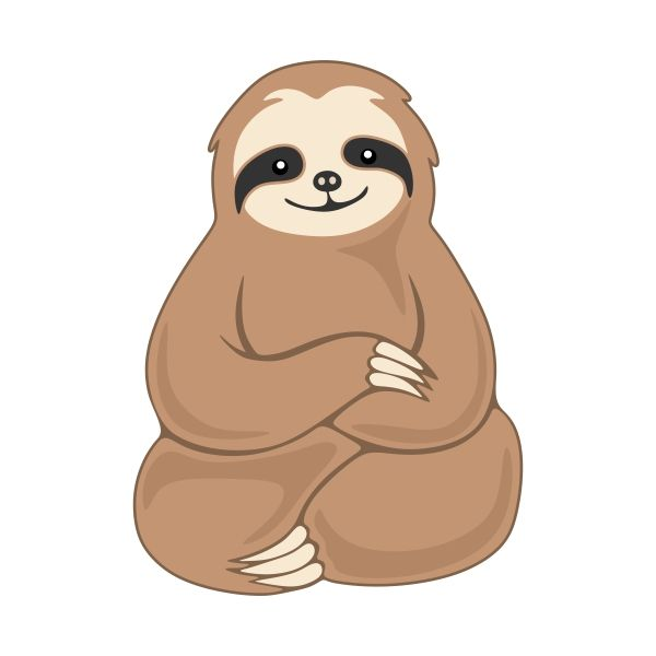 Clipart sloths royalty free library Pin by Rebecca K on SVG Cricut stuff | Sloth, Cute sloth, Sloth drawing royalty free library