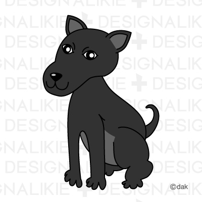 Clipart small black dog vector transparent library Black Dog|Pictures of clipart and graphic design and illustration ... vector transparent library