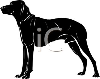 Clipart small black dog image library download Picture of a Large Black Dog Standing In a Vector Clip Art ... image library download