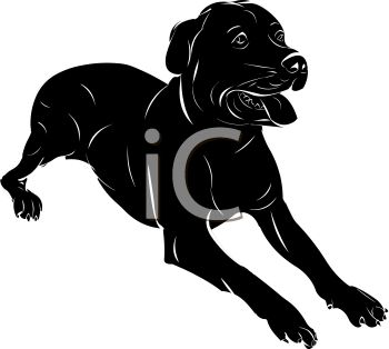 Clipart small black dog svg black and white download Picture of a Black Dog Laying Down With His Tongue Out In a Vector ... svg black and white download