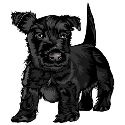 Clipart small black dog picture transparent download Cute black dog clipart - ClipartFest picture transparent download