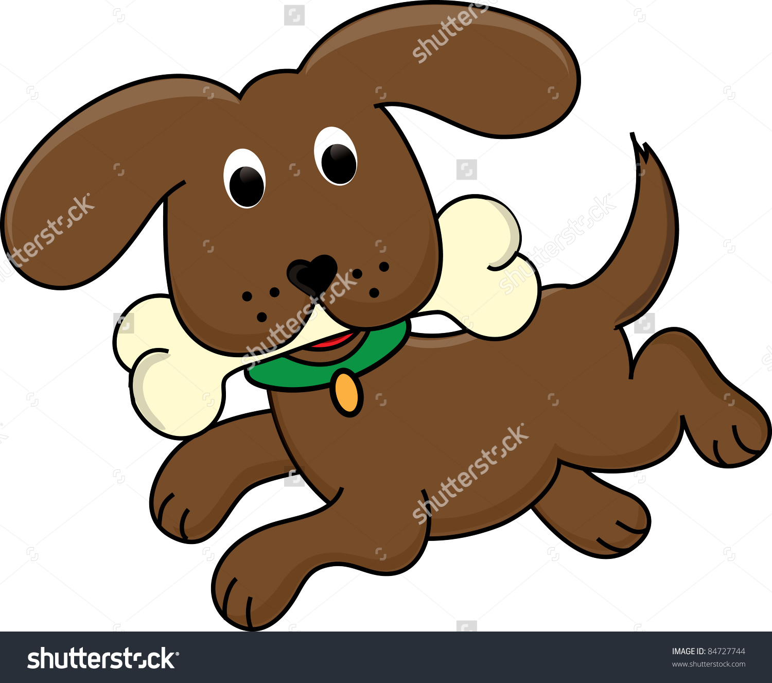 Clipart small brown dog black and white Clip Art Illustration Cute Little Dog Stock Illustration 84727744 ... black and white