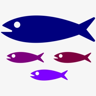 Clipart small fish svg black and white stock Shoal, Fish, Fish Family, Water, Kids, Swimming, Parent - Small Fish ... svg black and white stock