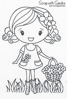 Clipart small girl bangs black and white picture freeuse 88 Best little girl drawing images in 2018 | Cute drawings, Cute ... picture freeuse