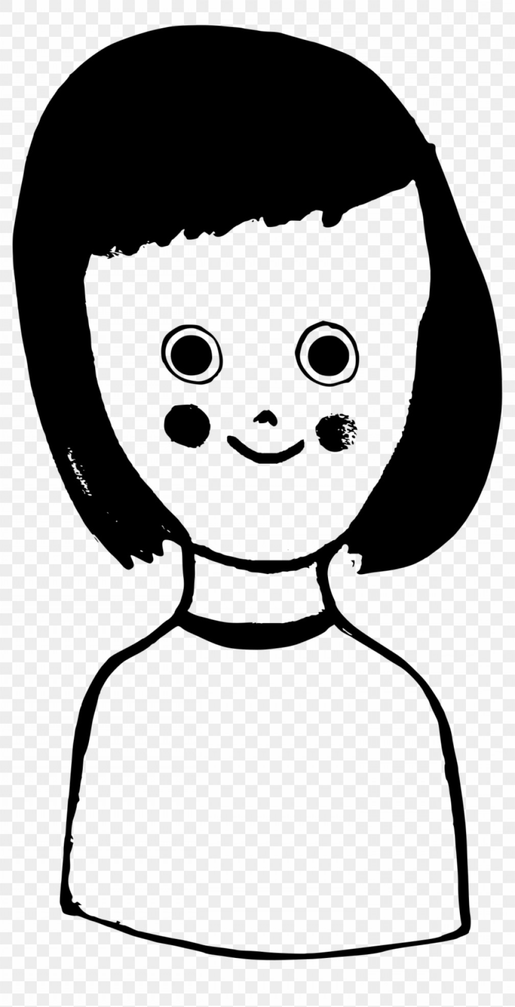 Clipart small girl bangs black and white svg free library Girl Eye Vector Png | SOIDERGI svg free library