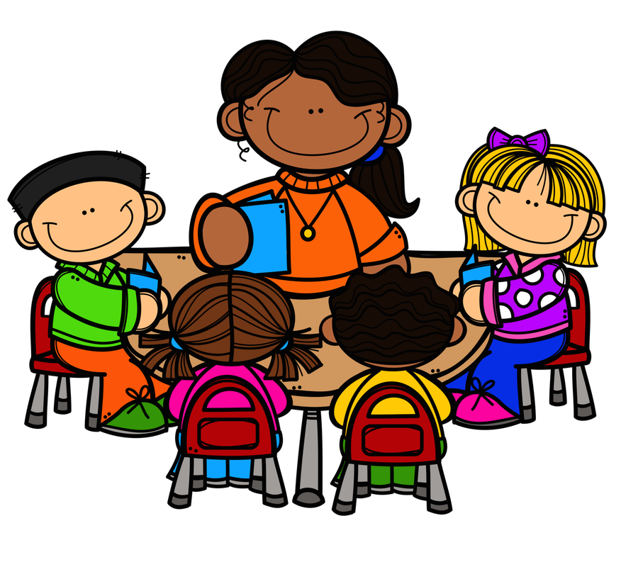 Free clipart small group at a table. Preschool