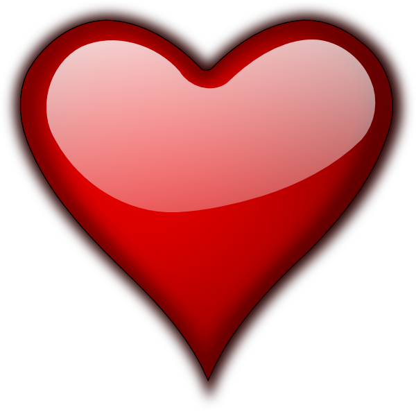 Clipart small heart jpg library download Shiny Heart Clip Art at Clker.com - vector clip art online, royalty ... jpg library download