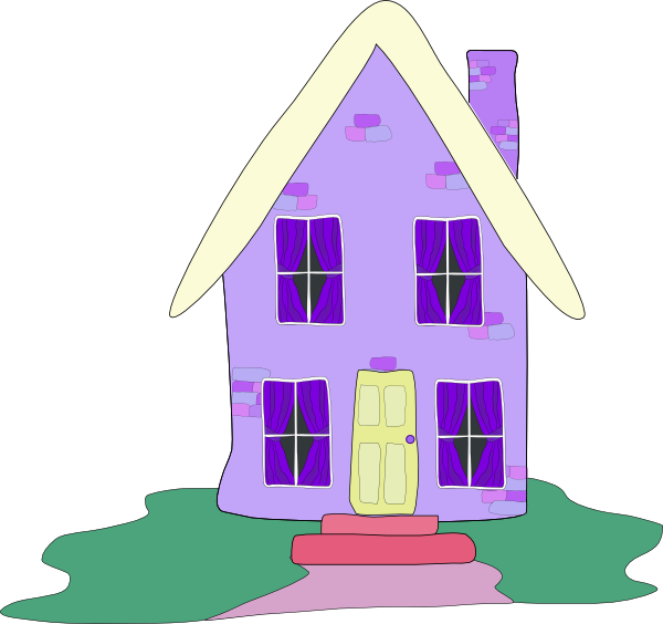 Tall house clipart picture black and white download Lilac House Clip Art at Clker.com - vector clip art online, royalty ... picture black and white download